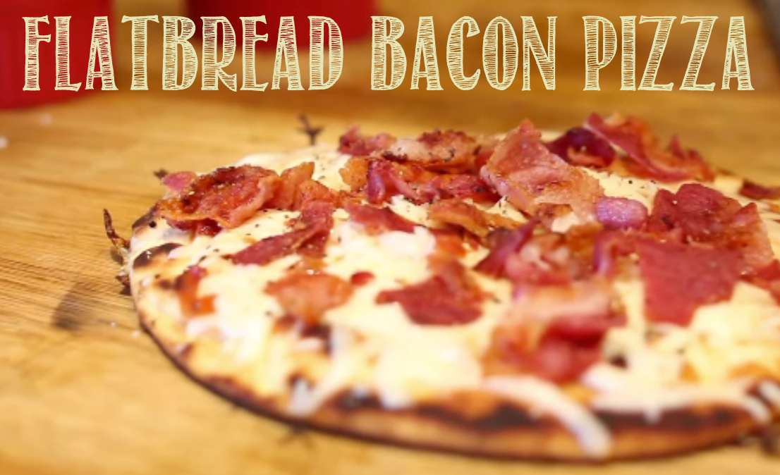 Flatbread Bacon Pizza – 4 Ingredients