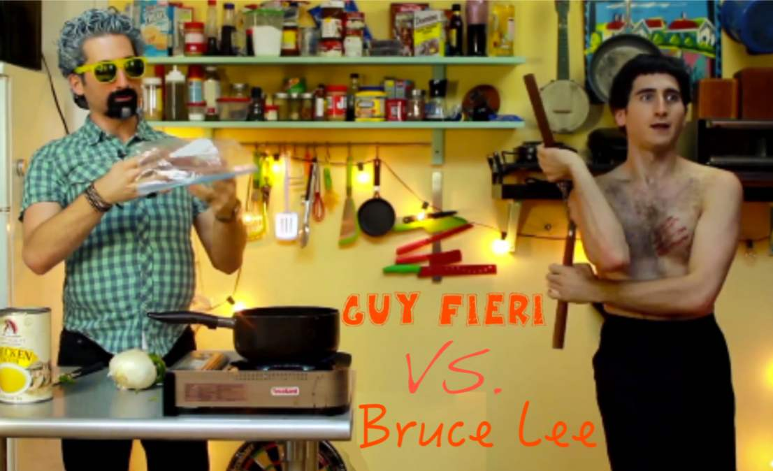 Guy Fieri vs. Bruce Lee