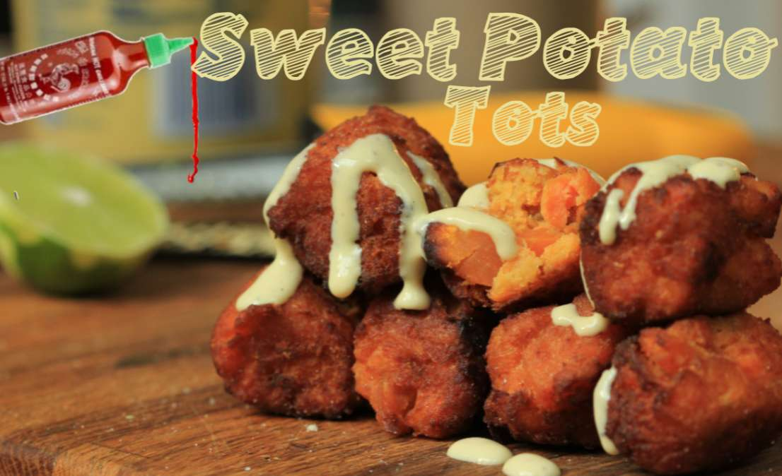 Spicy Sweet Potater-Tots