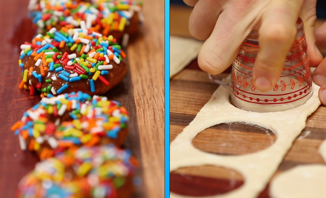 1 Ingredient Doughnut Hack with Chocolate Frosting