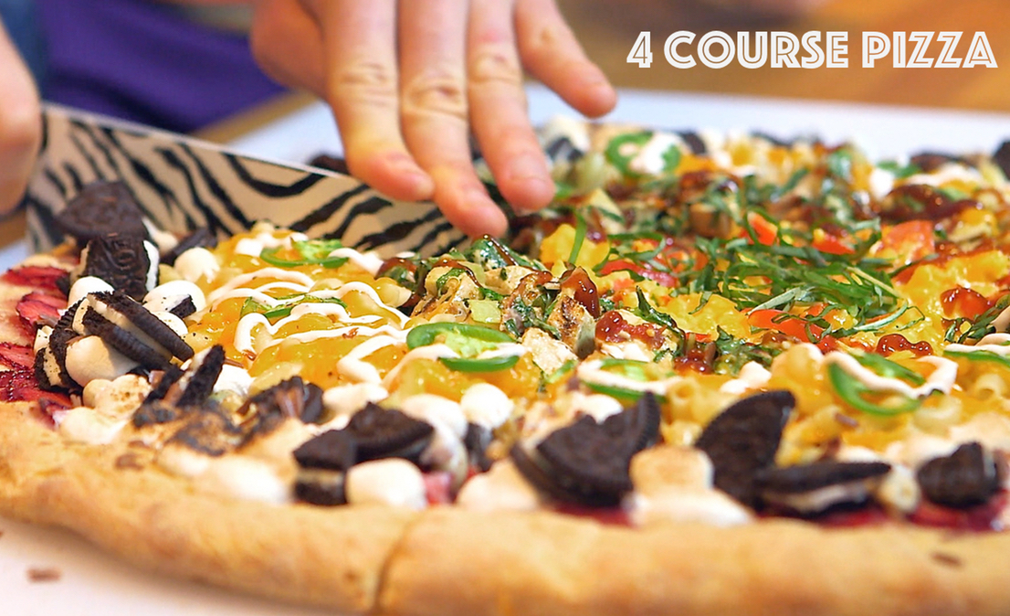 4 Course Pizza – Breakfast, Lunch, Dinner, Dessert in one!